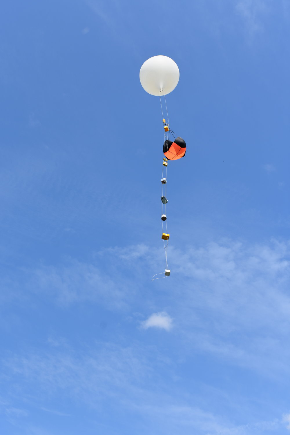 An LSU weather balloon launched in Carbondale, IL to monitor the 2017 eclipse. Credit: Nicki Button.