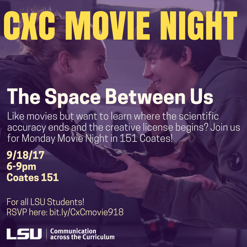 CxC Monday Movie Night - The Space Between Us.