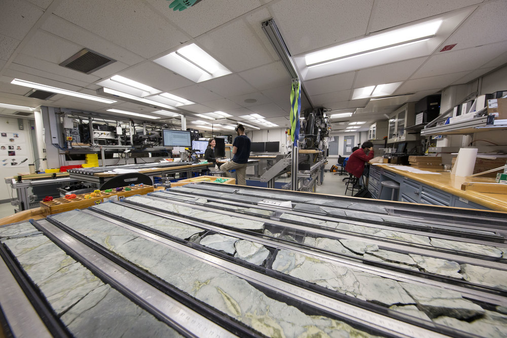Lab on JOIDES Resolution research vessel. Photo credit: Tim Fulton, IODP.
