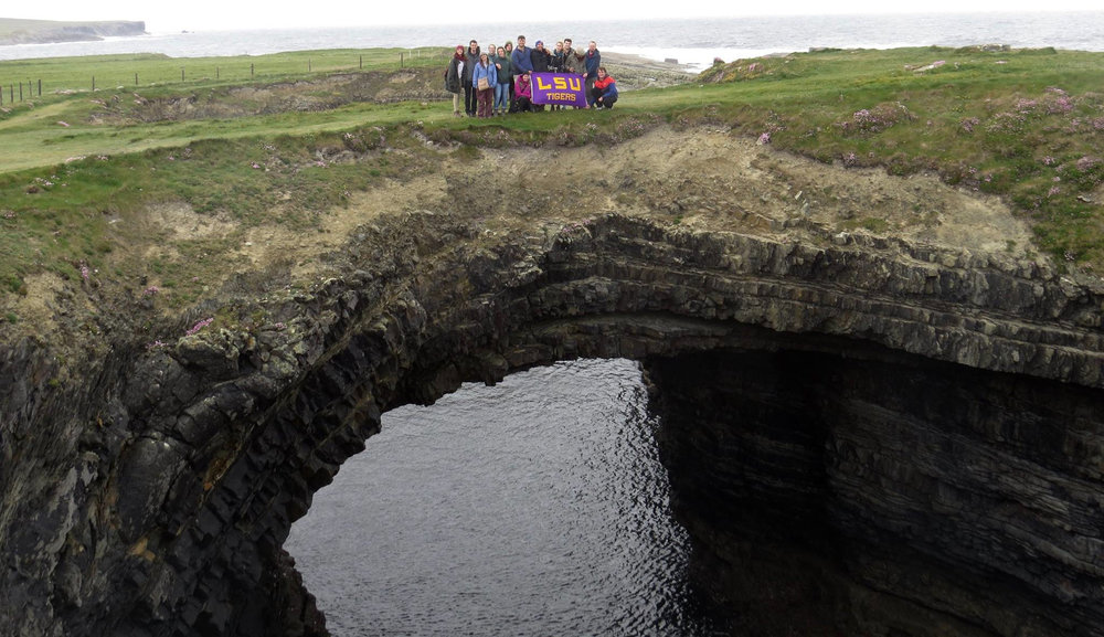 LSU Geology in Ireland! Photo Courtesy of Allison Barbato