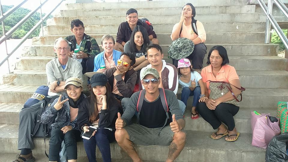 LSU researchers with locals in Borneo