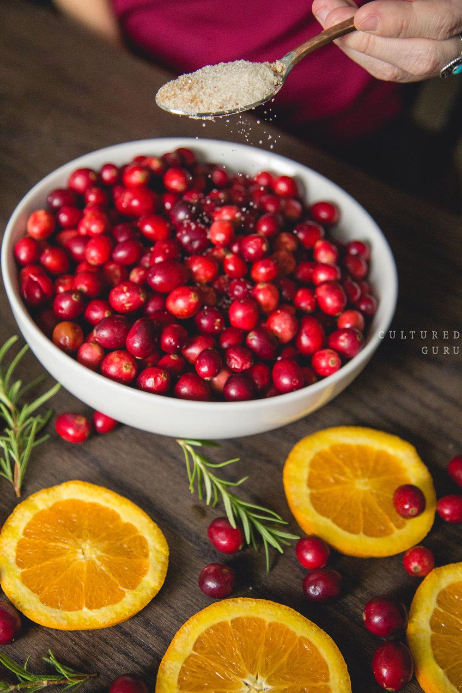 Probiotic Cranberry Sauce recipe. Photo credit: Scott Chachere .