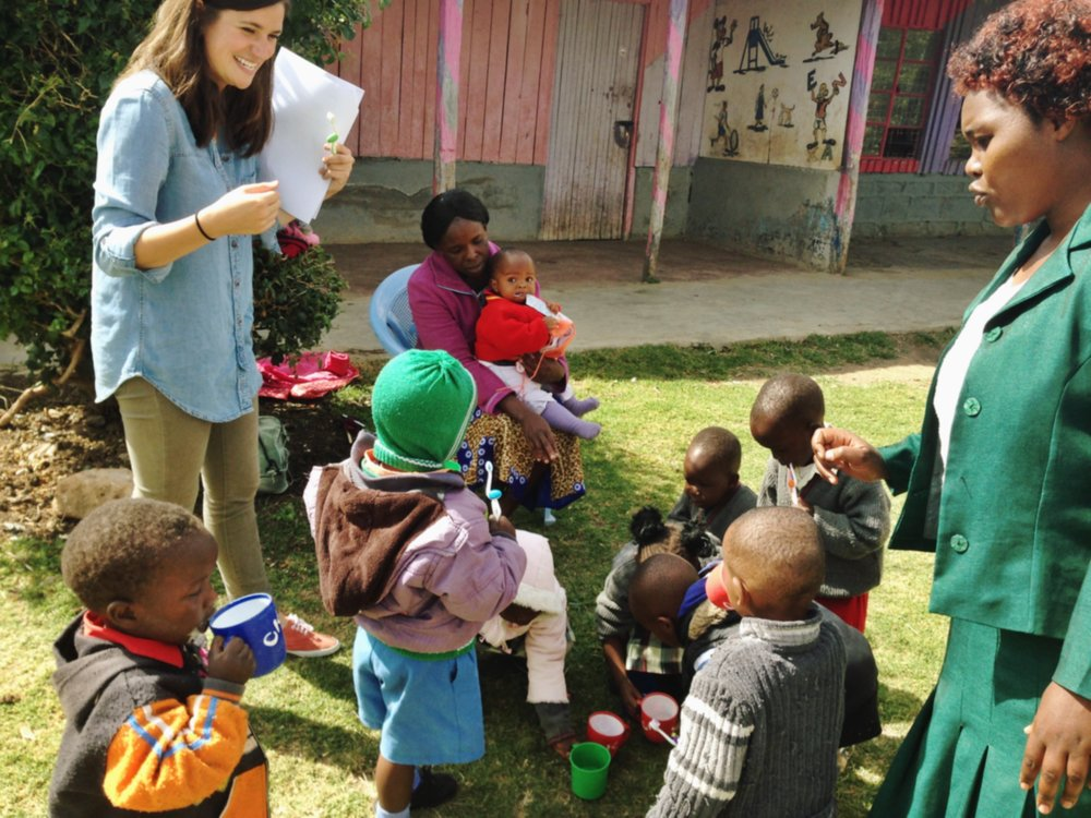 Ruth Dunn in Kenya while working with the CDC.