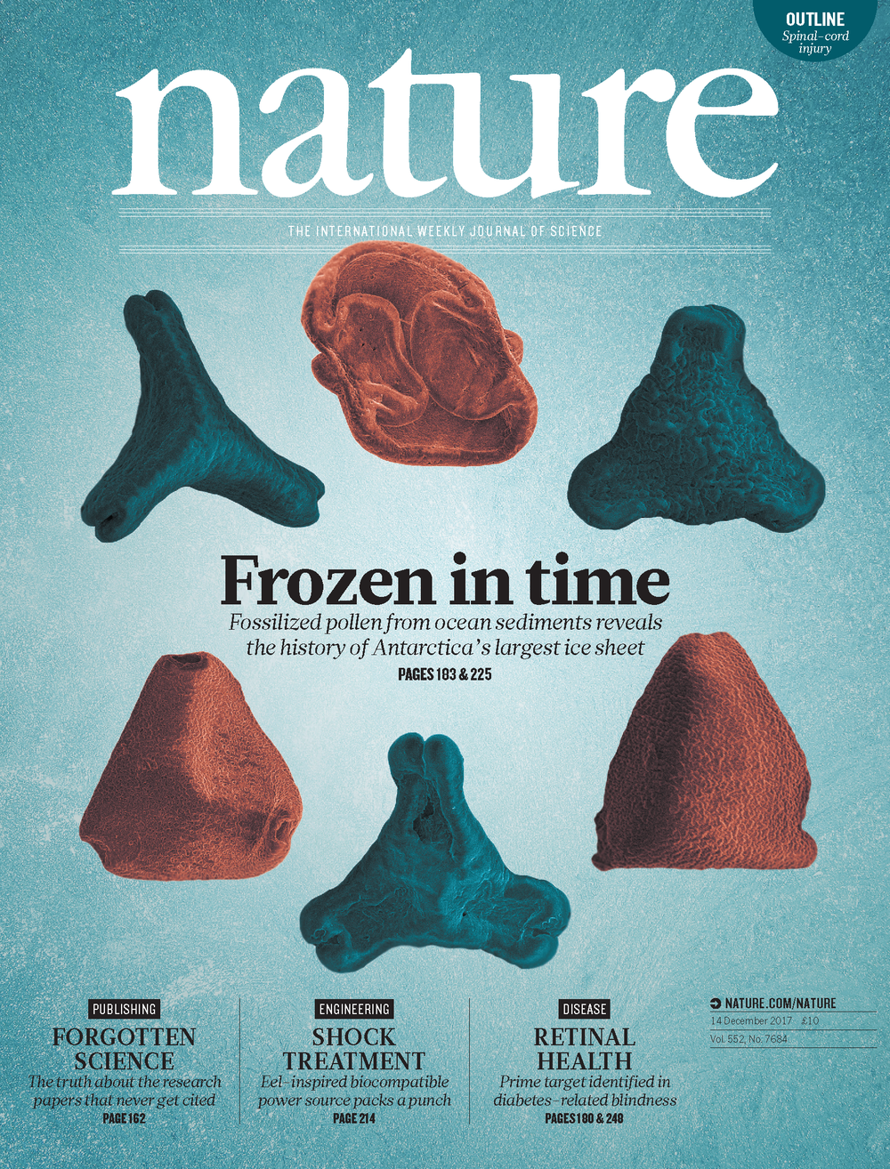Cover of the December 2017 issue of Nature magazine. Credit: Nature.