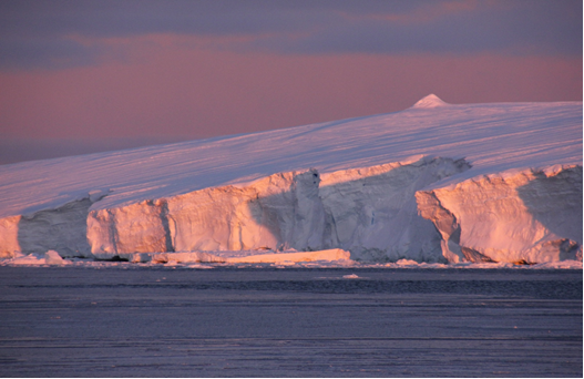Sunset on the Sabrina Coast, East Antarctica. Credit: Steffen Saustraup, The University of Texas at Austin