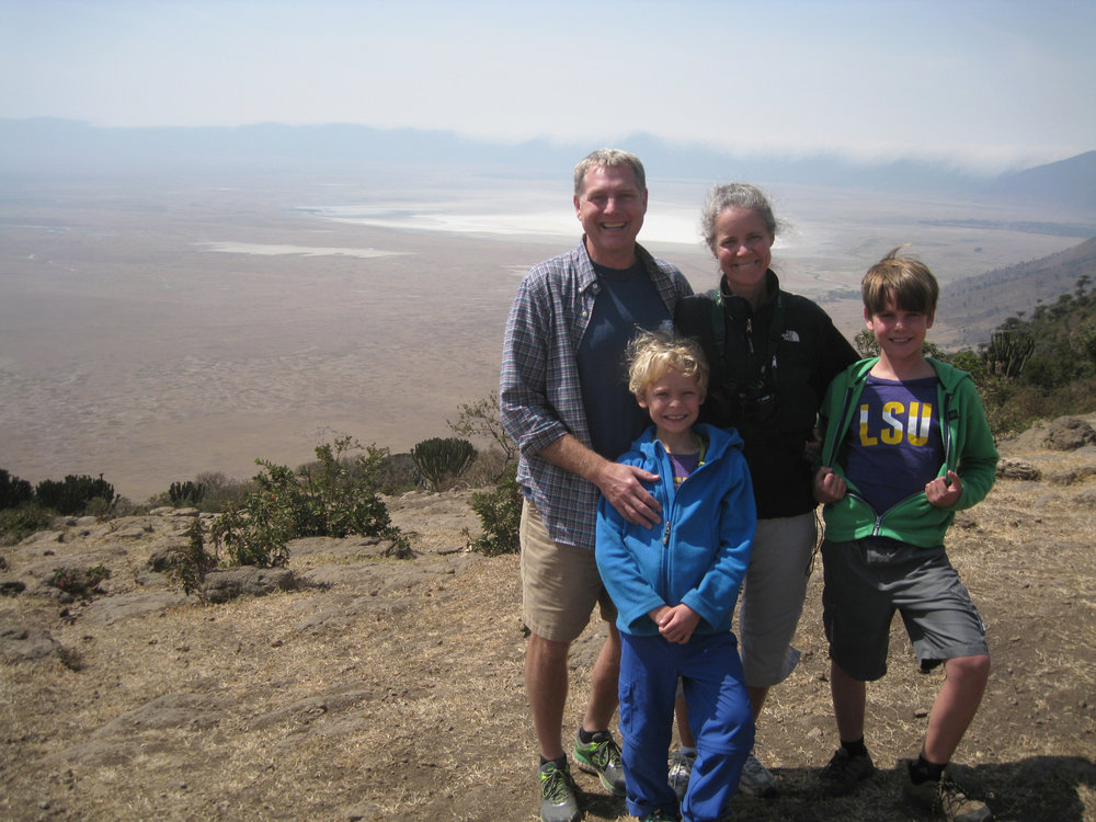 The Harms family in Tanzania