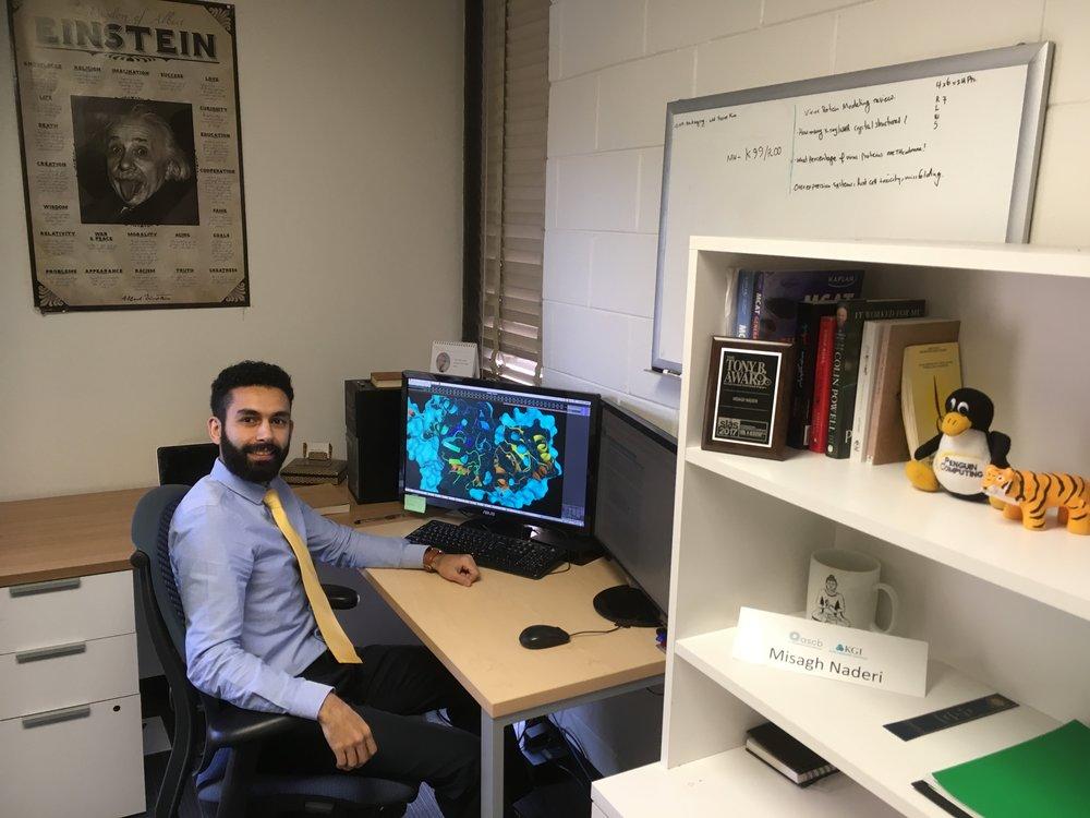 Misagh Naderi in his office. Credit Misagh Naderi.