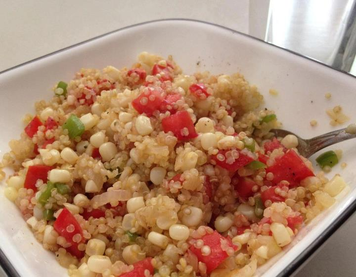 Quinoa with tomatoes and veggies