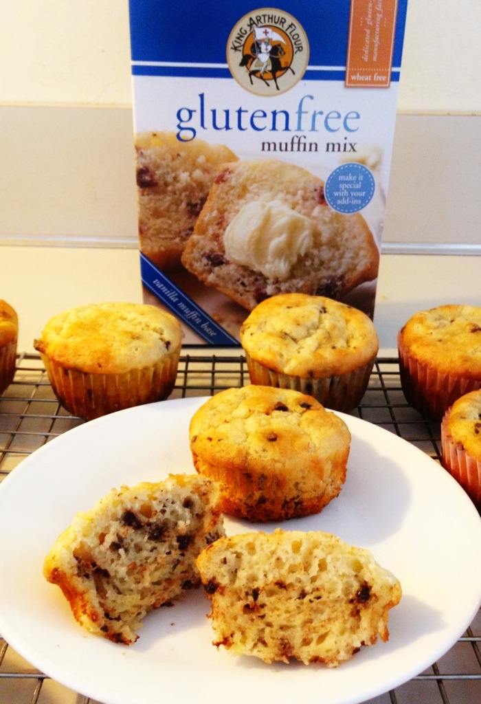 King Arthur Flour Gluten free Muffin Mix Banana Chocolate Chip Muffins