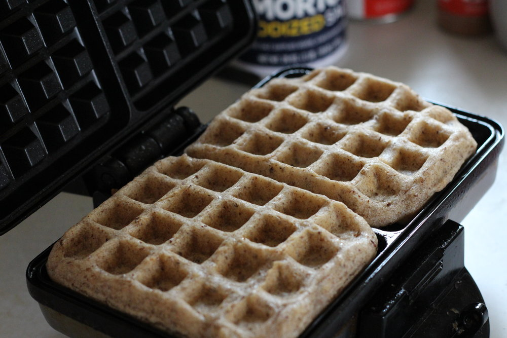 Finished Flaxseed Waffles