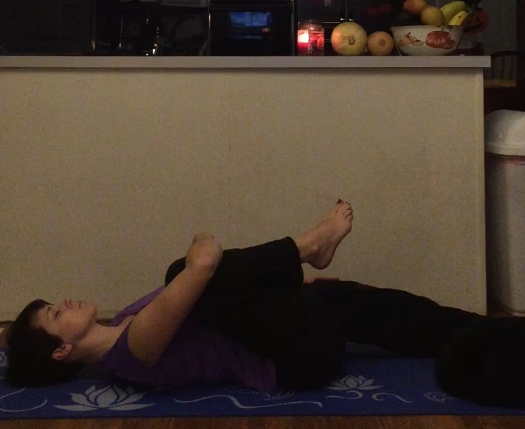 Releasing the tension in the hips.