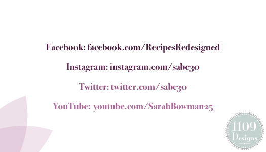 RECIPES REDESIGNED Business Card - BACK