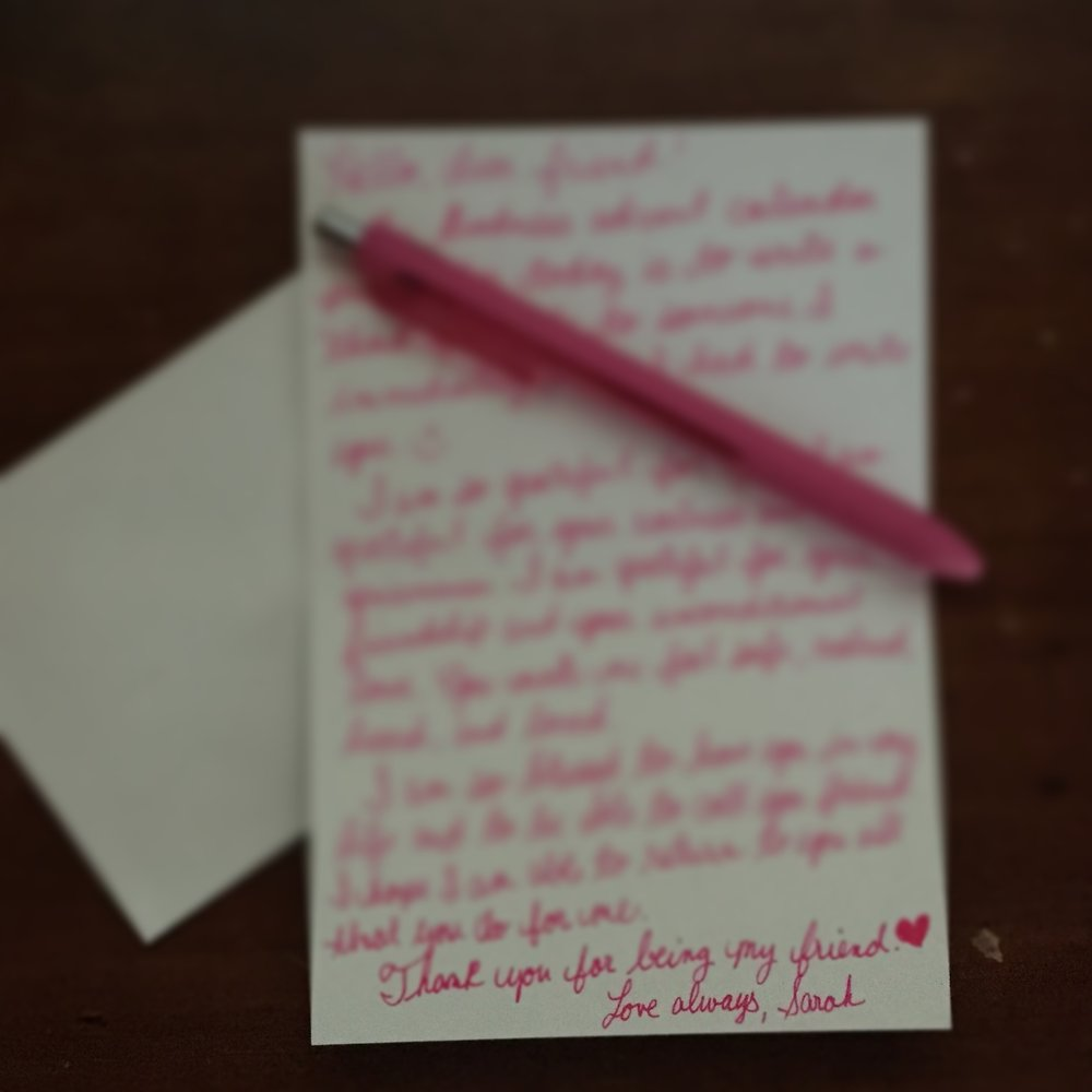 Day 15: Write a thank you note.