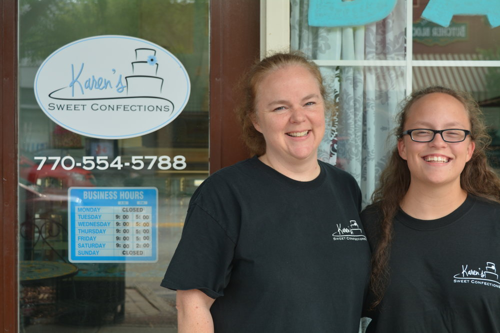 Owner and head baker Karen McCall and Karen's daughter Lauren.