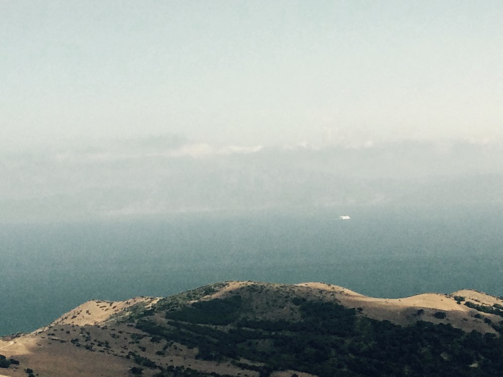 Morocco in the distance!