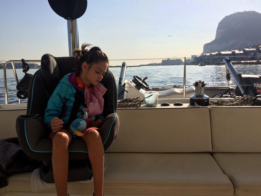 Anais enjoying her morning outing
