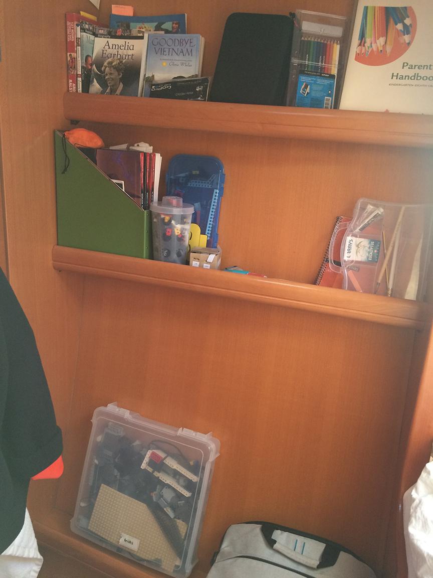 Enzo's storage area