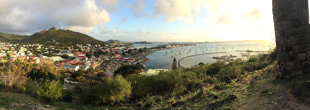 marigot bay from fort st. louis