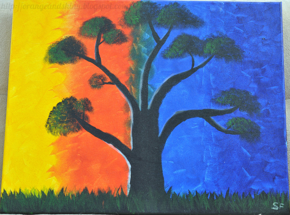 "Painting 1:  ""Serengeti Tree"""