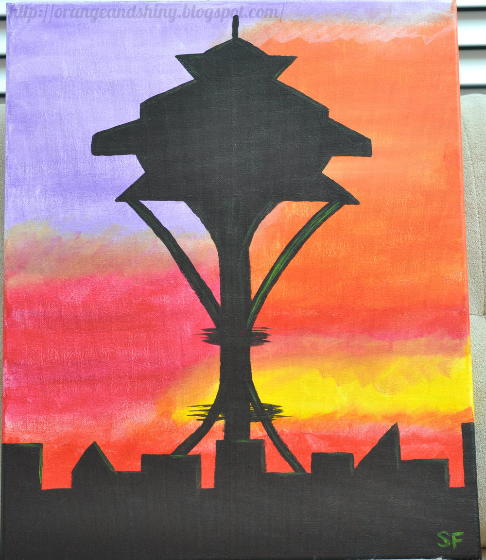"Painting 2:  ""Sunset Space Needle"""