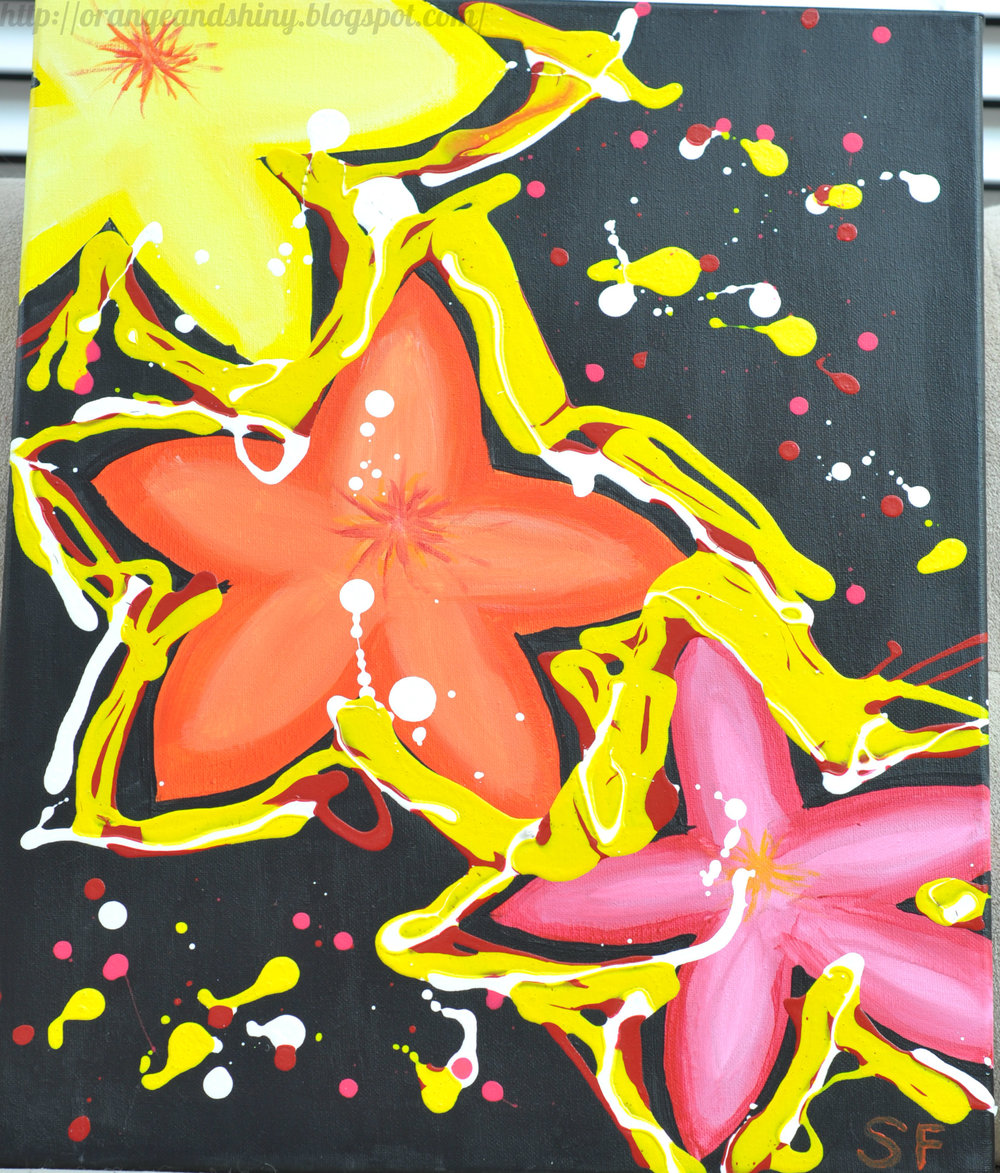 "Painting 4:  ""Electric Rhodies"""