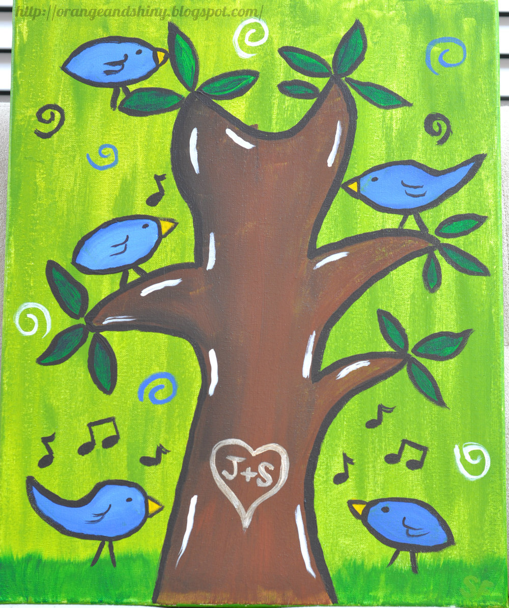 "Painting 6:  ""Tweet Tree"""
