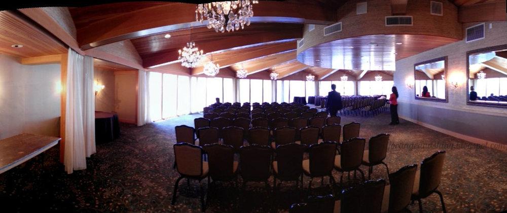 Olympic Ballroom at the Edgewater Hotel. Stunning view of Elliott Bay.
