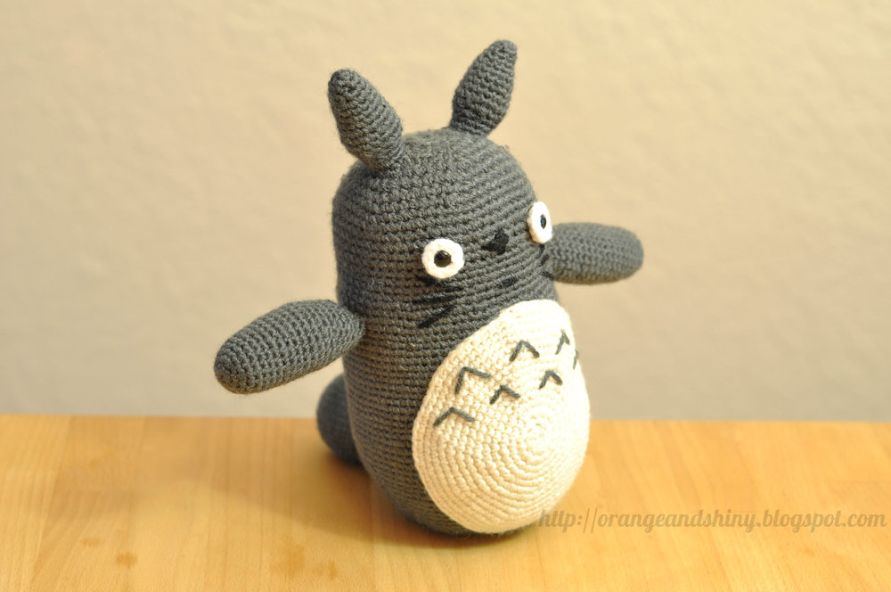 Amigurumi Totoro : Amigurumi totoro u orange shiny