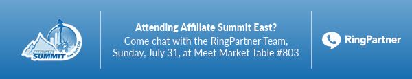 RingPartner will be at Affiliate Summit East in New York City on July 31st 2016