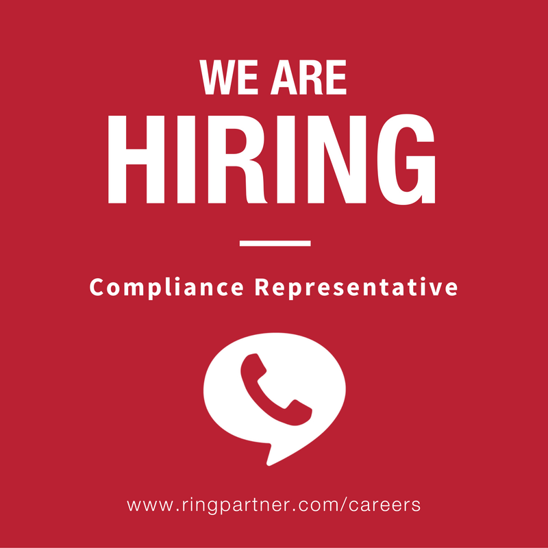 RingPartner is hiring a Compliance Representative