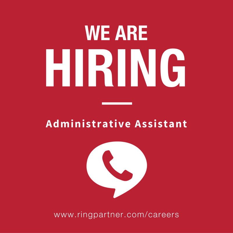 RingPartner is hiring an Administrative Assistant