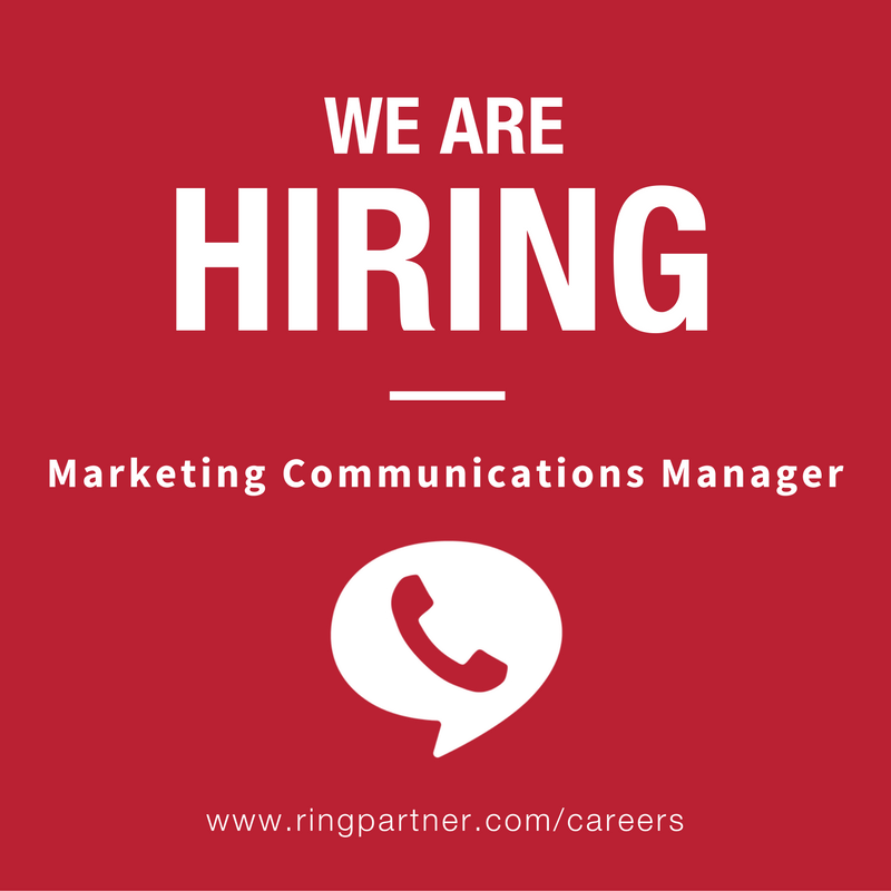 RingPartner Careers - Marketing Communications Manager