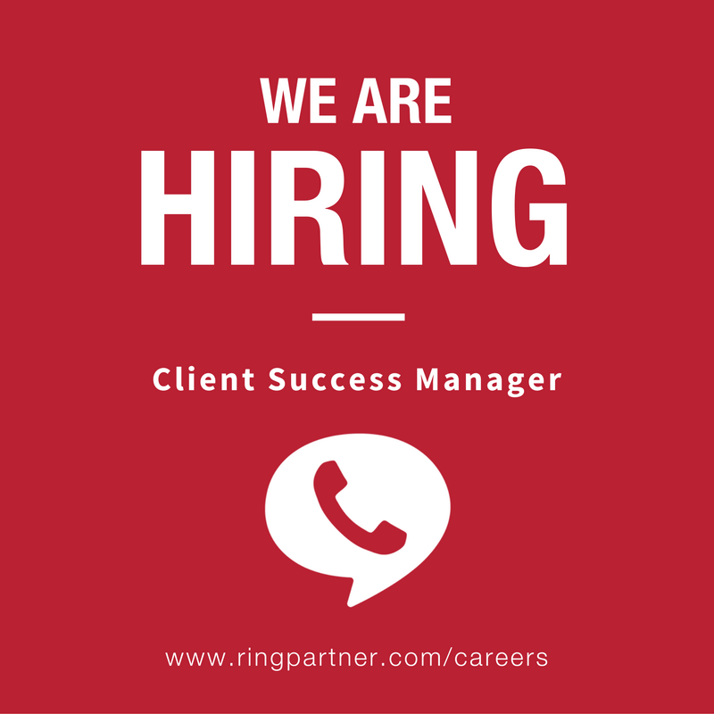 RingPartner is hiring a Client Success Manager