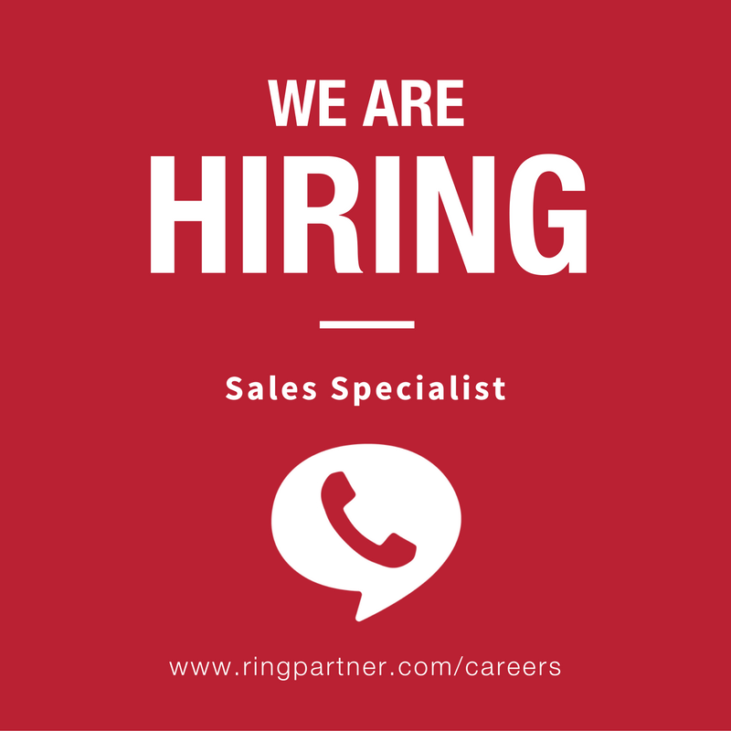 We're hiRING a Sales Specialist!