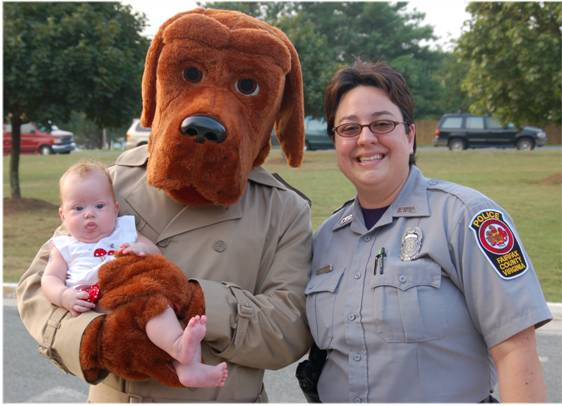 McGruff, the Crime Dog, visits Kingston Chase