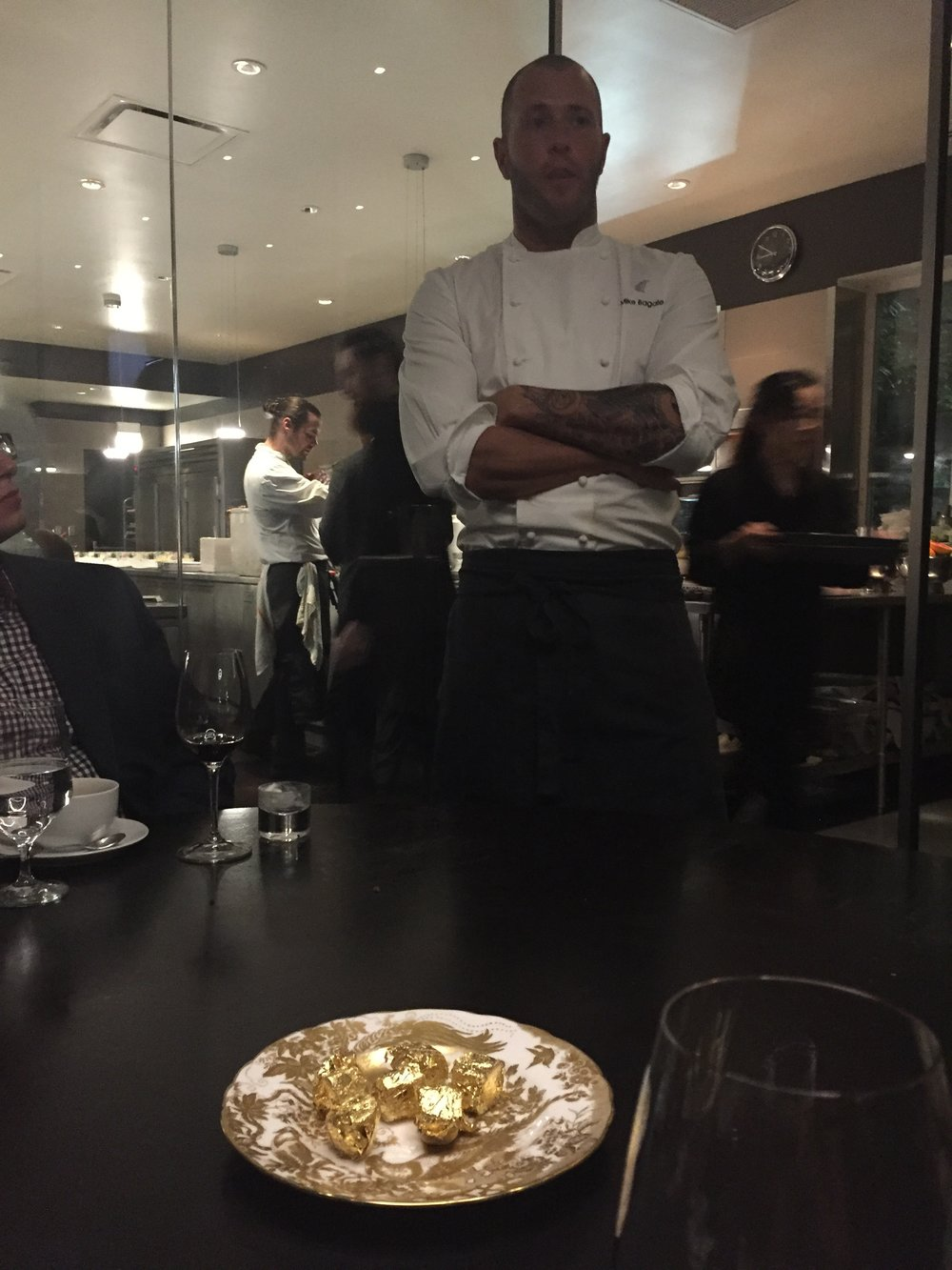 Intimate experience with chefs (pictured here: Mike Bagale), servers and sommeliers.