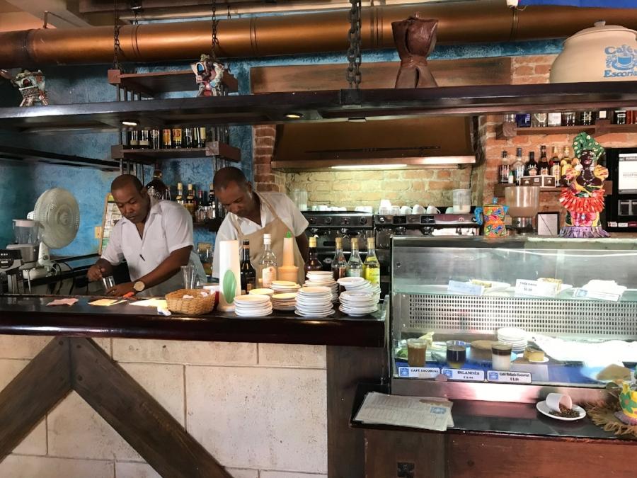 Inside Cafe Escorial Havana Cuba