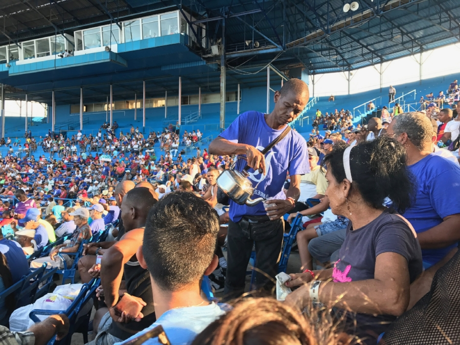 Cuban coffee at a baseball game