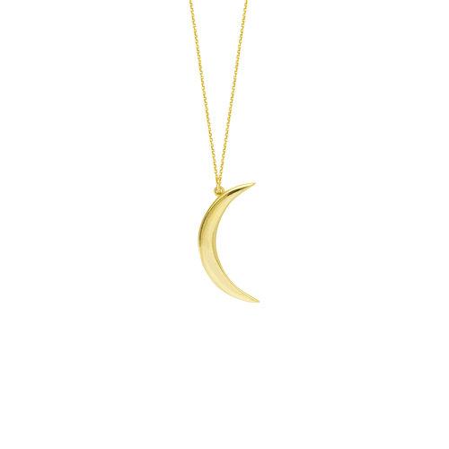 14k yellow gold half moon pendant charles frederick jewelers 14k yellow gold half moon pendant aloadofball Images