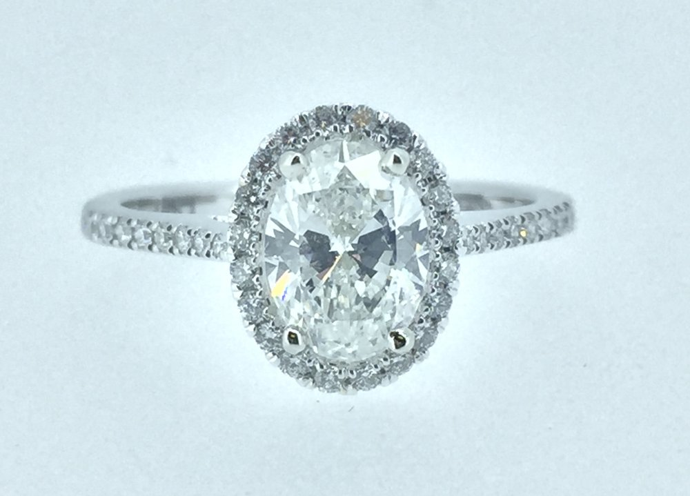 Were happy to help design the engagement ring of your dreams! Any shape size or creative idea can become a reality.