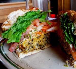 Vegetarian Burger at Grandma's.