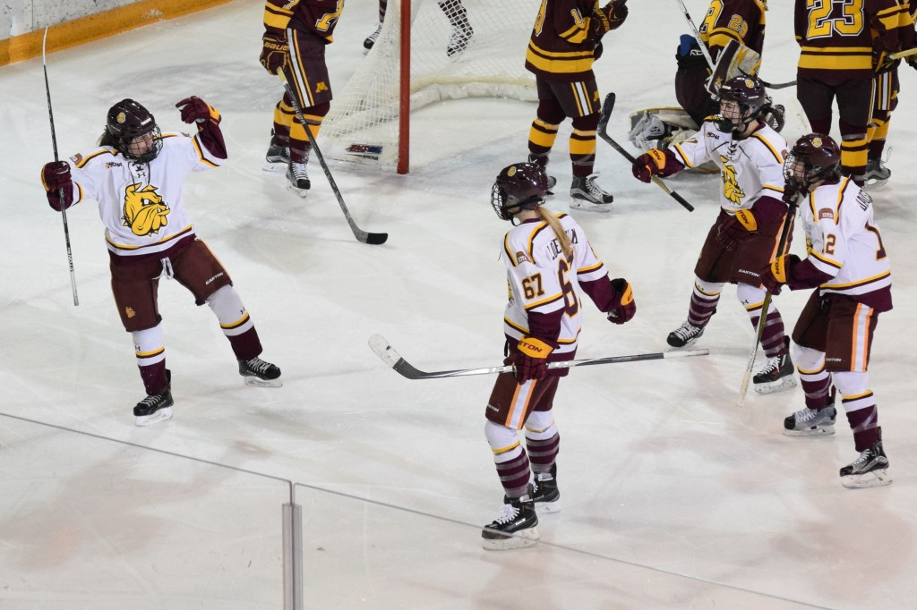 Michela Cava scored her fifth goal in the past four games a half minute after the Gophers jumped out to a 2-0 lead Saturday afternoon. ERIK GAFFRON/STATESMAN