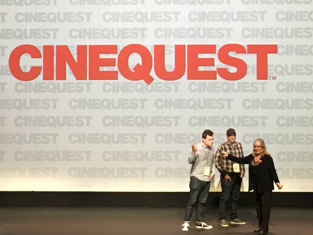 Having a killer time at Cinequest. Great screenings. Great audiences.