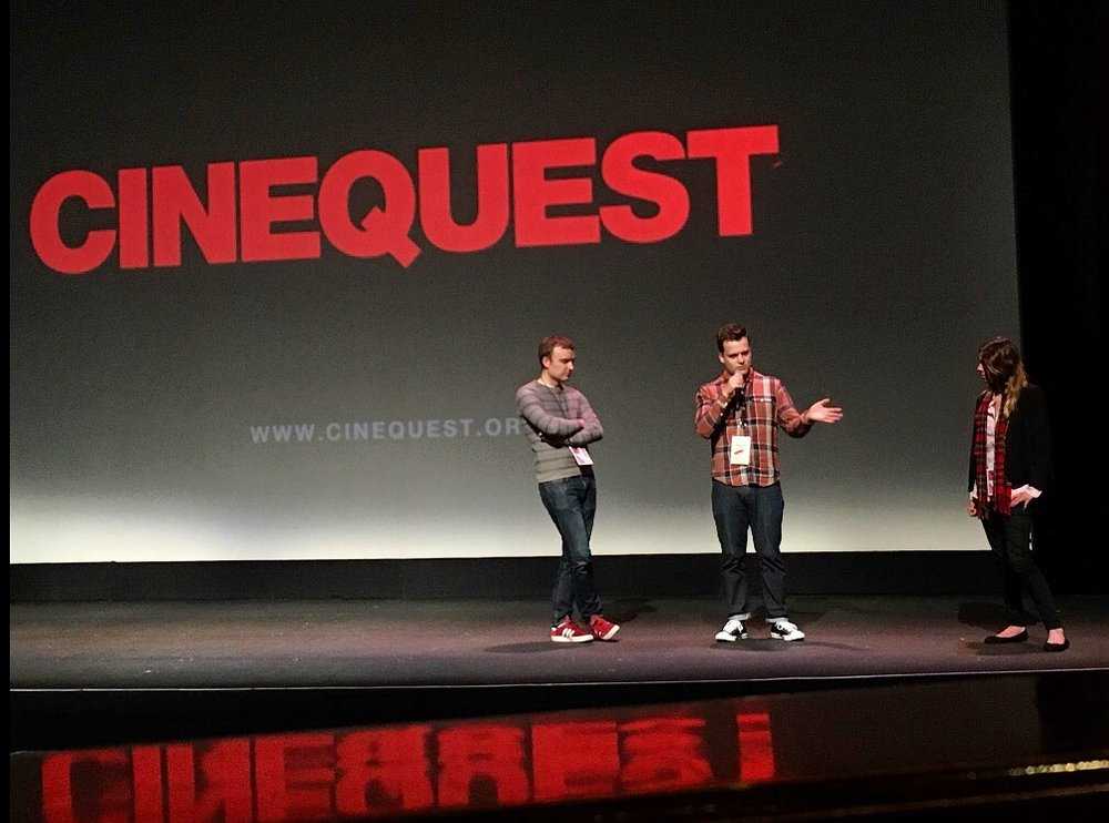 Here I am with Mike Ward (co-editor and co-producer) in a Q&A. I'm explaining that I still need to do my taxes this year.