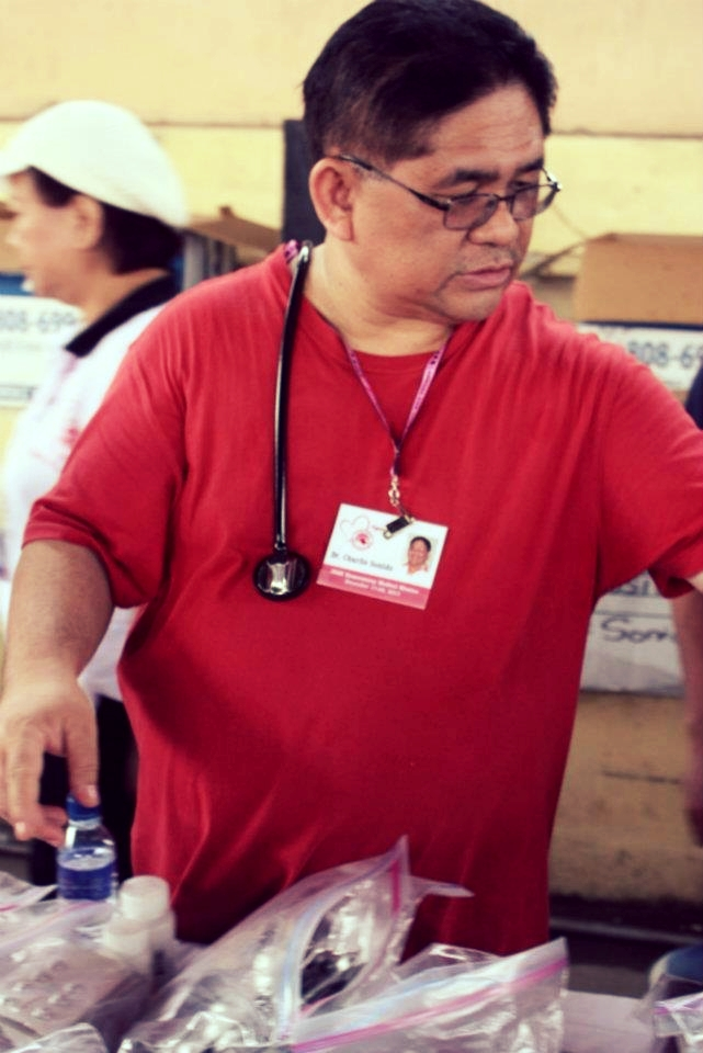 Dr. Charlie Sonido in his annual Medical Mission to the Philippines