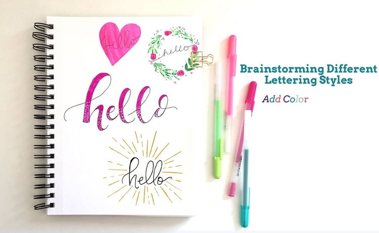 Adding Color To Lettering Is Always Fun Too Other Design Elements Can Add Interest As Well For Example A Simple Heart Wreath Or Embellishments