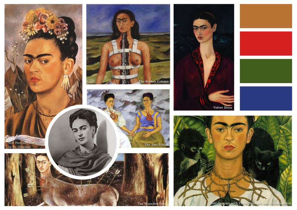 Of her 143 paintings, 55 are self-portraits