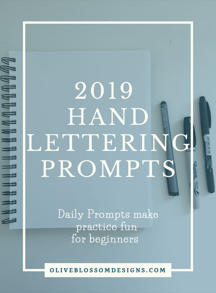Hand Lettering Prompts makes it easy to decide what to letter. It's great practice for beginners to join a hand lettering challenge and make new Insta friends and be inspired by other lettering artists.