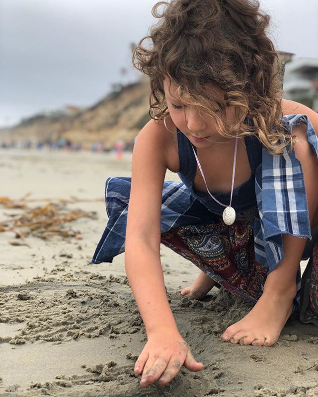 My girl belongs in the sand. #beachcurls #encinitas #californiadreaming