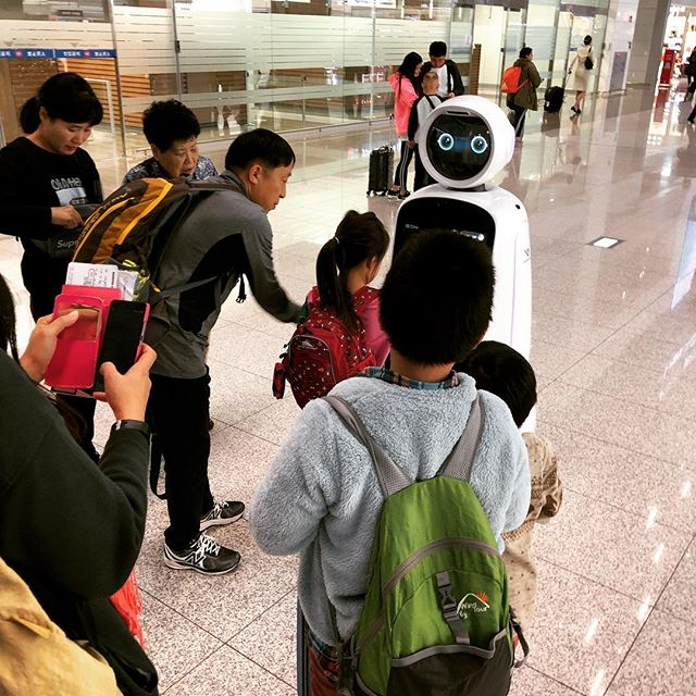 Korea has airport robots.